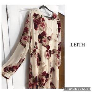 Nordstrom plus size + LEITH + Floral Dress Cream